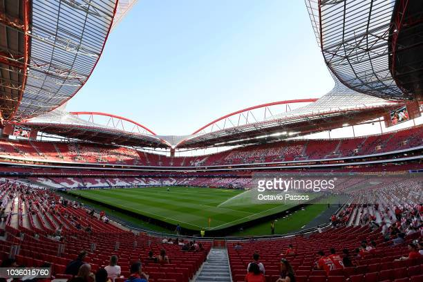 General view inside the stadium prior to the Group E match of the UEFA Champions League between SL Benfica and FC Bayern Muenchen at Estadio da Luz...