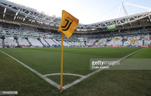 A general view inside the stadium prior to the Group H match of the UEFA Champions League between Juventus and BSC Young Boys at Allianz Stadium on...