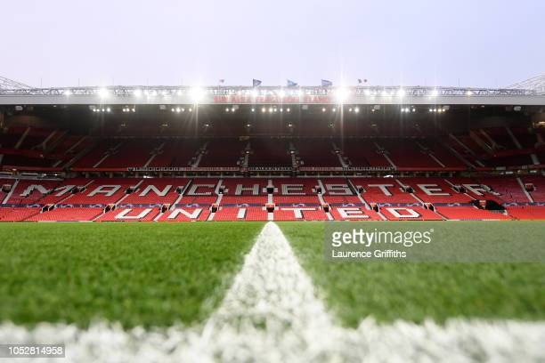 A general view inside the stadium prior to the Group H match of the UEFA Champions League between Manchester United and Juventus at Old Trafford on...