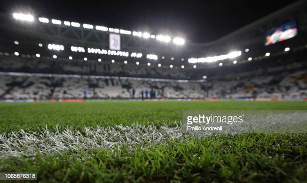 General view inside the stadium prior to the Group H match of the UEFA Champions League between Juventus and Valencia at Allianz Stadium on November...
