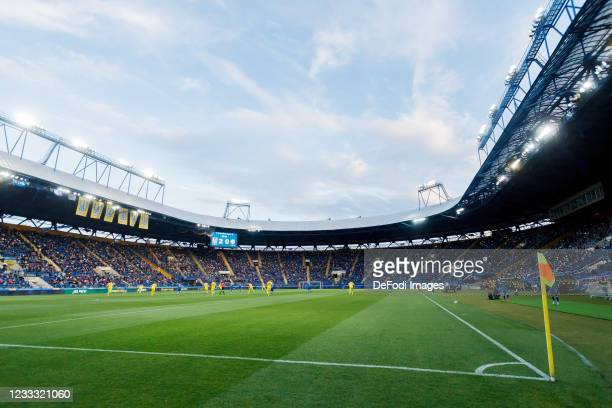 General view inside the stadium prior to the international friendly match between Ukraine and Cyprus at Metalist Stadium on June 7, 2021 in Kharkiv,...