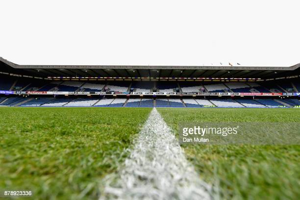 A general view inside the stadium prior to the international match between Scotland and Australia at Murrayfield Stadium on November 25 2017 in...