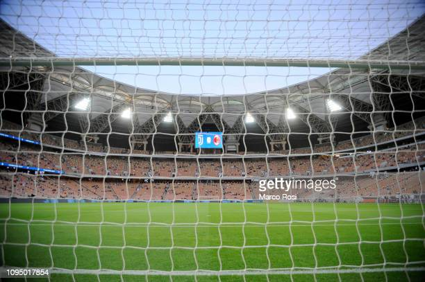 A general view inside the stadium prior to the Italian Supercup match between Juventus and AC Milan at King Abdullah Sports City on January 16 2019...