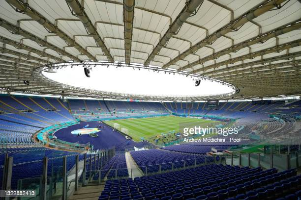 General view inside the stadium prior to the Italy Training Session ahead of the UEFA Euro 2020 Championship Group A match between Turkey and Italy...