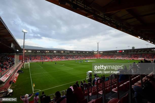 General view inside the stadium prior to the La Liga 123 play off match between CD Numancia de Soria and Real Zaragoza at Nuevo Estadio Los Pajaritos...