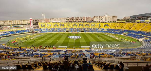 General view inside the stadium prior to the La Liga during the La Liga match between Las Palmas and Leganes at Estadio Gran Canaria on September 24...