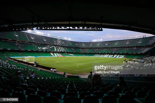General view inside the stadium prior to the La Liga match between Real Betis Balompie and Levante UD at Estadio Benito Villamarin on August 17 2018...