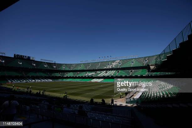 General view inside the stadium prior to the La Liga match between Real Betis Balompie and SD Huesca at Estadio Benito Villamarin on May 12 2019 in...