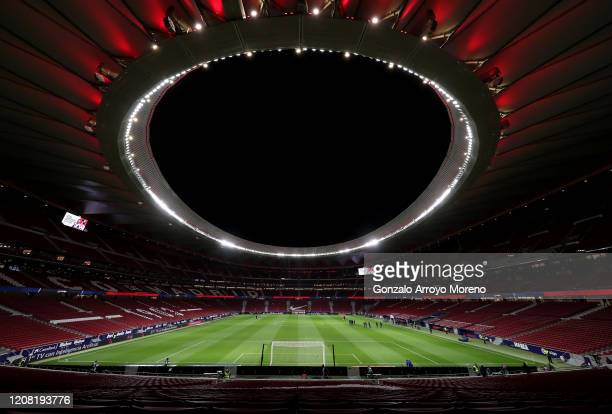 General view inside the stadium prior to the La Liga match between Club Atletico de Madrid and Villarreal CF at Wanda Metropolitano on February 23,...