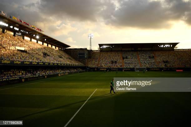 General view inside the stadium prior to the La Liga Santander match between Villarreal CF and Deportivo Alavés at Estadio de la Ceramica on...