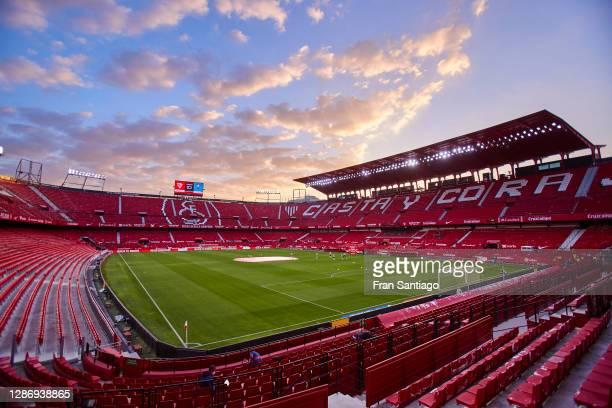 General view inside the stadium prior to the La Liga Santander match between Sevilla FC and RC Celta at Estadio Ramon Sanchez Pizjuan on November 21,...