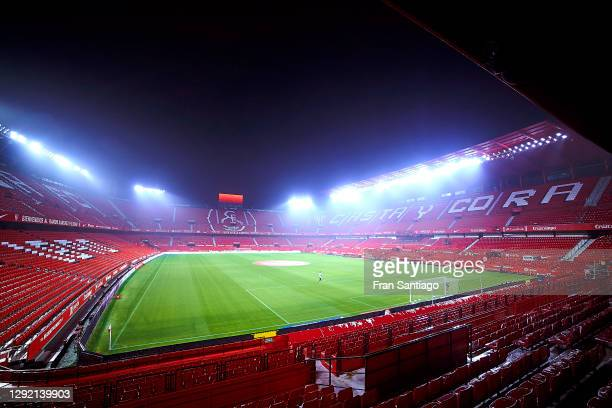 General view inside the stadium prior to the La Liga Santander match between Sevilla FC and Real Valladolid CF at Estadio Ramon Sanchez Pizjuan on...