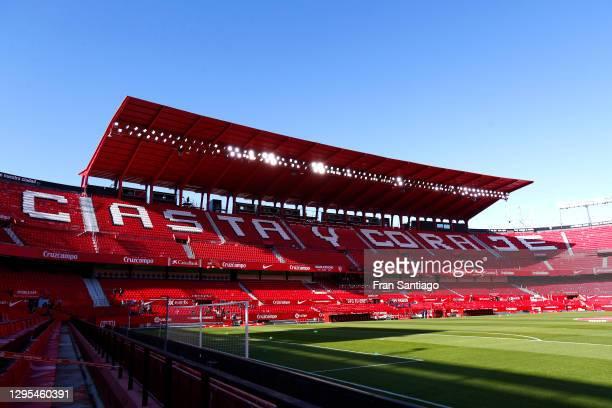 General view inside the stadium prior to the La Liga Santander match between Sevilla FC and Real Sociedad at Estadio Ramon Sanchez Pizjuan on January...