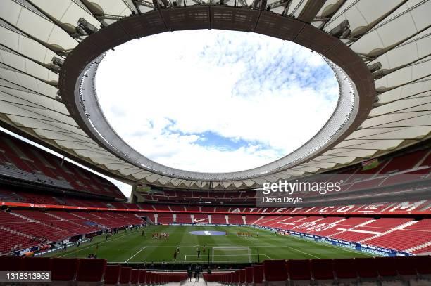General view inside the stadium prior to the La Liga Santander match between Atletico de Madrid and C.A. Osasuna at Estadio Wanda Metropolitano on...