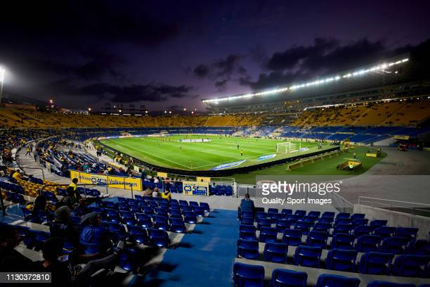 General view inside the stadium prior to the Liga 123 match between Las Palmas and Sporting de Gijon at Estadio Gran Canaria on February 17 2019 in...