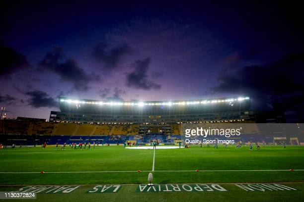 General view inside the stadium prior to the Liga 123 match between Las Palmas and Sporting de Gijon at Estadio Gran Canaria on February 17, 2019 in...