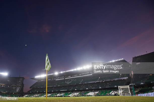 General view inside the stadium prior to the Liga match between Real Betis Balompie and SD Eibar SAD at Estadio Benito Villamarin on October 04 2019...