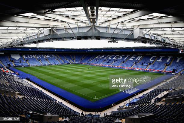 A general view inside the stadium prior to the Premier league 2 match between Leicester City and Derby County at King Power Stadium on April 23 2018...