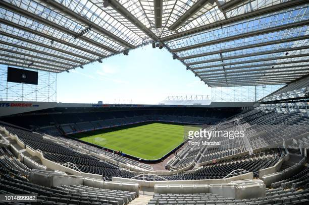 General view inside the stadium prior to the Premier League match between Newcastle United and Tottenham Hotspur at St James Park on August 11 2018...