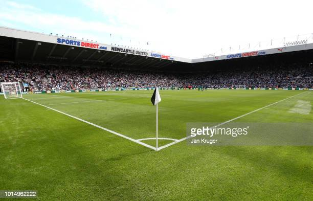 General view inside the stadium prior to the Premier League match between Newcastle United and Tottenham Hotspur at St. James Park on August 11, 2018...