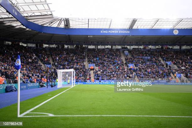 General view inside the stadium prior to the Premier League match between Leicester City and Huddersfield Town at The King Power Stadium on September...