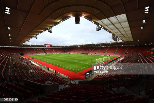 General view inside the stadium prior to the Premier League match between Southampton FC and Manchester United at St Mary's Stadium on December 1...