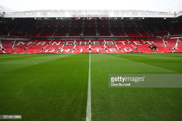 General view inside the stadium prior to the Premier League match between Manchester United and Huddersfield Town at Old Trafford on December 26,...