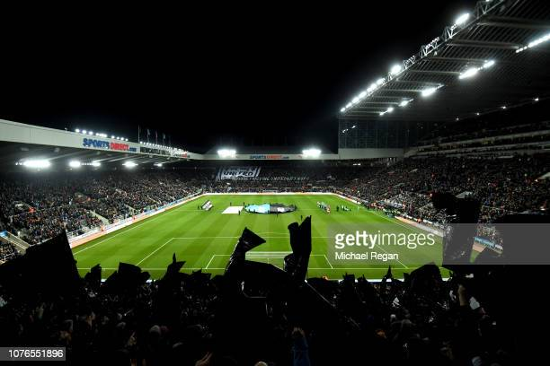 General view inside the stadium prior to the Premier League match between Newcastle United and Manchester United at St James Park on January 2 2019...