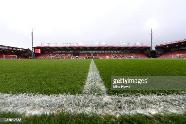 General view inside the stadium prior to the Premier League match between AFC Bournemouth and West Ham United at Vitality Stadium on January 19 2019...