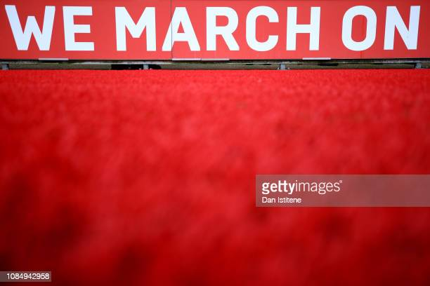 General view inside the stadium prior to the Premier League match between Southampton FC and Everton FC at St Mary's Stadium on January 19 2019 in...