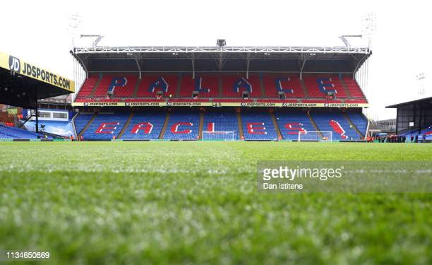 General view inside the stadium prior to the Premier League match between Crystal Palace and Brighton & Hove Albion at Selhurst Park on March 09,...