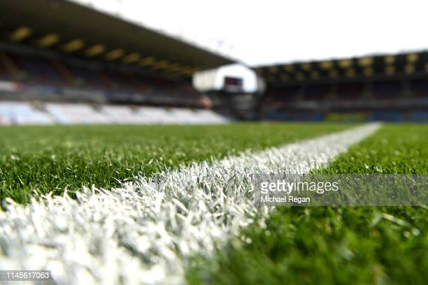General view inside the stadium prior to the Premier League match between Burnley FC and Manchester City at Turf Moor on April 28, 2019 in Burnley,...