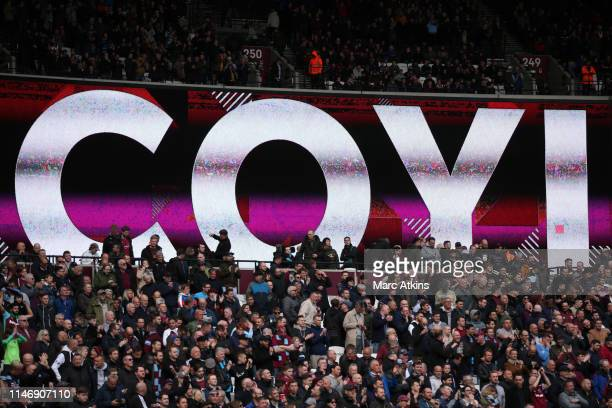 General view inside the stadium prior to the Premier League match between West Ham United and Southampton FC at London Stadium on May 04 2019 in...