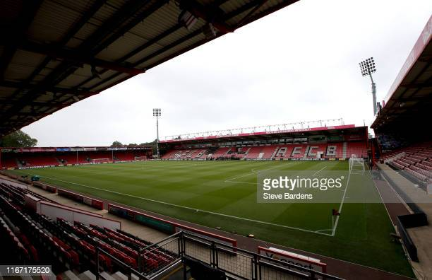 General view inside the stadium prior to the Premier League match between AFC Bournemouth and Sheffield United at Vitality Stadium on August 10, 2019...