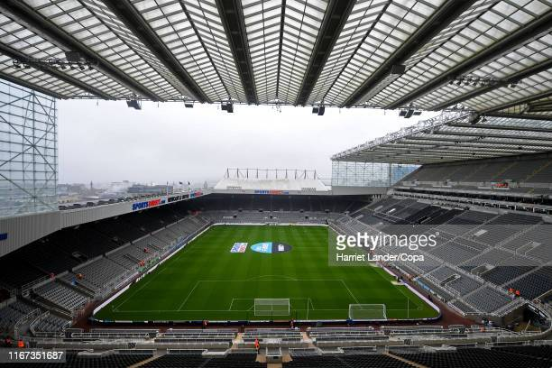 General view inside the stadium prior to the Premier League match between Newcastle United and Arsenal FC at St James Park on August 11 2019 in...