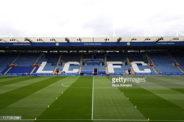 General view inside the stadium prior to the Premier League match between Leicester City and AFC Bournemouth at The King Power Stadium on August 31,...