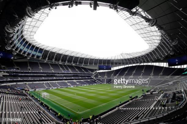 General view inside the stadium prior to the Premier League match between Tottenham Hotspur and Southampton FC at Tottenham Hotspur Stadium on...