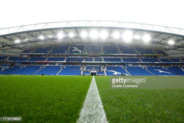 General view inside the stadium prior to the Premier League match between Brighton & Hove Albion and Tottenham Hotspur at American Express Community...