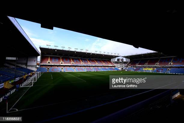 General view inside the stadium prior to the Premier League match between Burnley FC and Chelsea FC at Turf Moor on October 26, 2019 in Burnley,...
