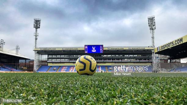 General view inside the stadium prior to the Premier League match between Crystal Palace and Liverpool FC at Selhurst Park on November 23 2019 in...