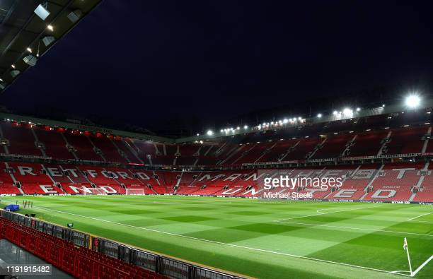 General view inside the stadium prior to the Premier League match between Manchester United and Tottenham Hotspur at Old Trafford on December 04,...