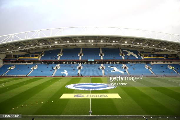 General view inside the stadium prior to the Premier League match between Brighton & Hove Albion and Sheffield United at American Express Community...