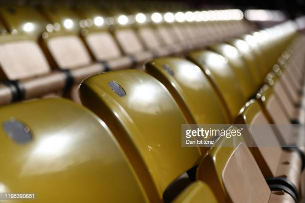 General view inside the stadium prior to the Premier League match between Watford FC and Manchester United at Vicarage Road on December 22, 2019 in...