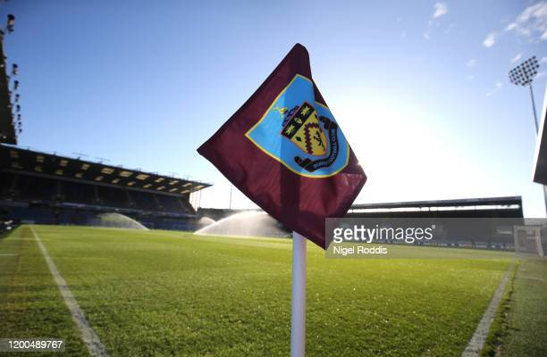 General view inside the stadium prior to the Premier League match between Burnley FC and Leicester City at Turf Moor on January 19, 2020 in Burnley,...