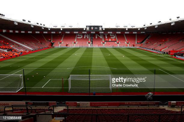 General view inside the stadium prior to the Premier League match between Southampton FC and Newcastle United at St Mary's Stadium on March 07, 2020...