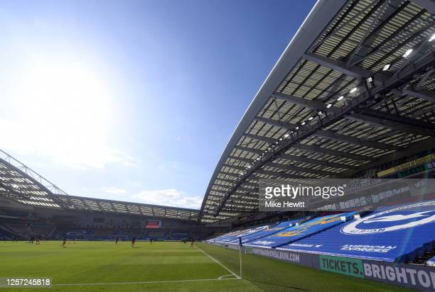 General view inside the stadium prior to the Premier League match between Brighton & Hove Albion and Newcastle United at American Express Community...