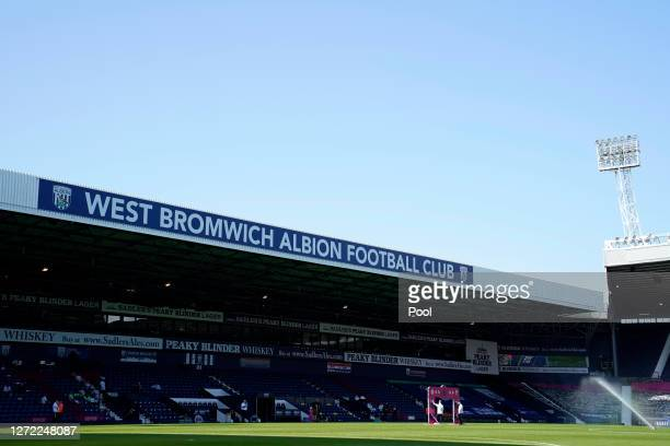 General view inside the stadium prior to the Premier League match between West Bromwich Albion and Leicester City at The Hawthorns on September 13,...