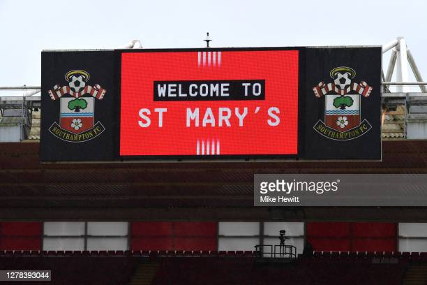 General view inside the stadium prior to the Premier League match between Southampton and West Bromwich Albion at St Mary's Stadium on October 04,...