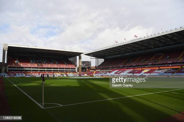 General view inside the stadium prior to the Premier League match between Aston Villa and Southampton at Villa Park on November 01, 2020 in...