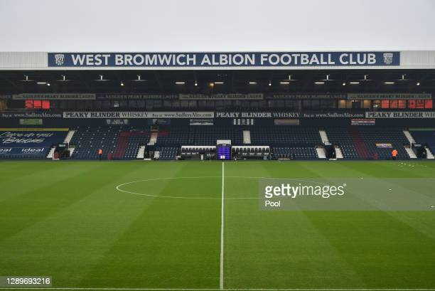 General view inside the stadium prior to the Premier League match between West Bromwich Albion and Crystal Palace at The Hawthorns on December 06,...